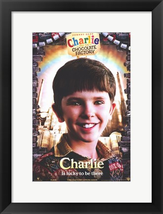 Framed Charlie and the Chocolate Factory Charlie Print