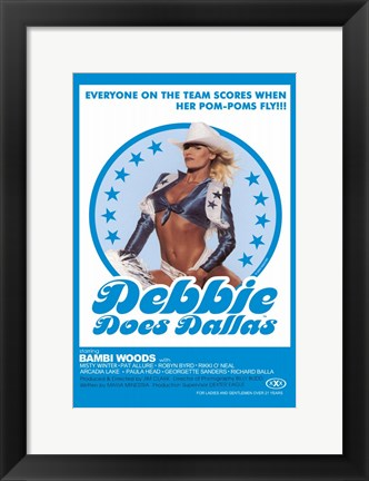 Framed Debbie Does Dallas Print