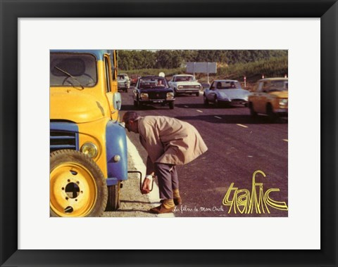 Framed Retrospective Tati Changing Tire Print
