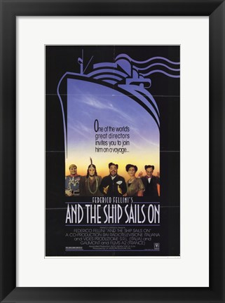 Framed And the Ship Sails On Print