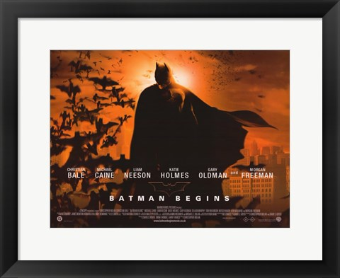 Framed Batman Begins Sunrise Horizontal Print