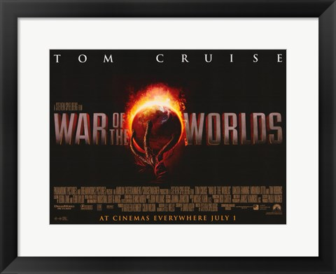 Framed War of the Worlds Red Globe Print
