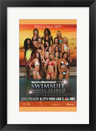 Framed Sports Illustrated Swimsuit Model Search Print