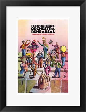 Framed Orchestra Rehearsal Print