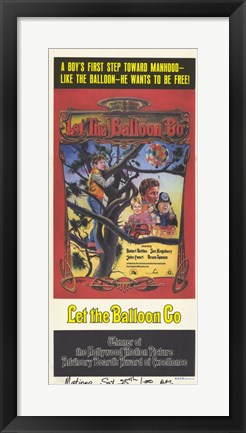 Framed Let the Balloon Go Print