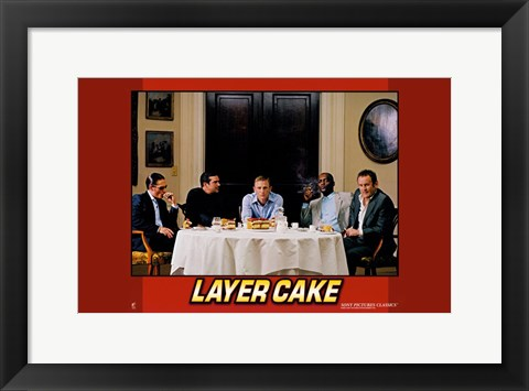 Framed Layer Cake - horizontal (men) Print