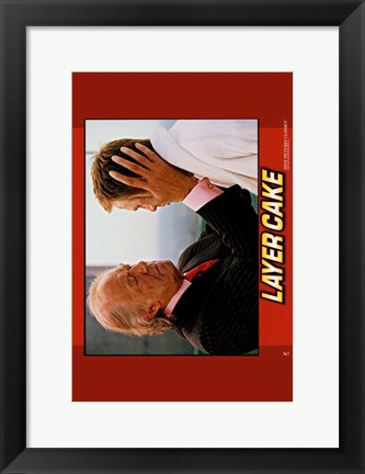 Framed Layer Cake - horizontal (two men) Print