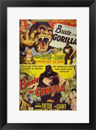 Framed Bride of the Gorilla Print