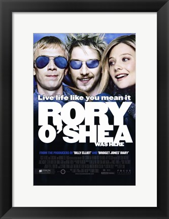 Framed Rory O'Shea Was Here Print