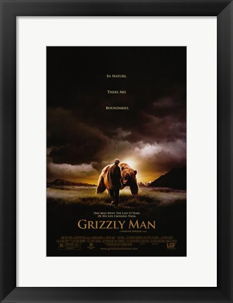 Framed Grizzly Man Print