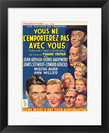 Framed You Can't Take It with You (French) Print