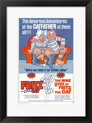 Framed Fritz the Cat / The Nine Lives of Fritz the Cat Print