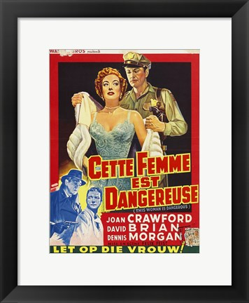 Framed This Woman Is Dangerous Print