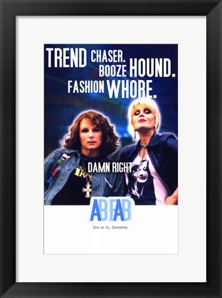 Framed Absolutely Fabulous BBC Sitcom Print