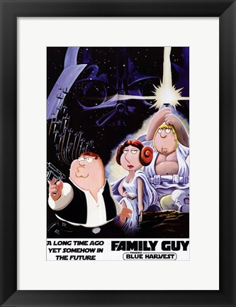 Framed Family Guy Star Wars Jedi Print