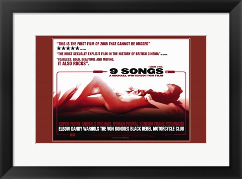 Framed 9 Songs Print