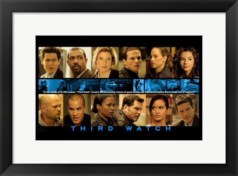 Framed Third Watch - characters Print