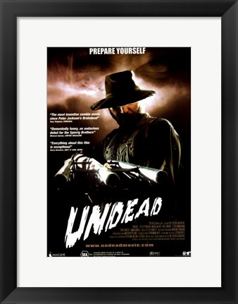 Framed Undead - Prepare yourself Print