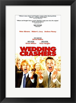 Framed Wedding Crashers Print