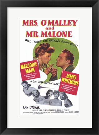 Framed Mrs. O'Malley and Mr. Malone Print