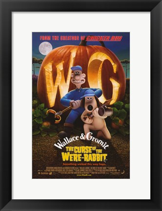 Framed Wallace & Gromit: The Curse of the Were-Rabbit Movie Print