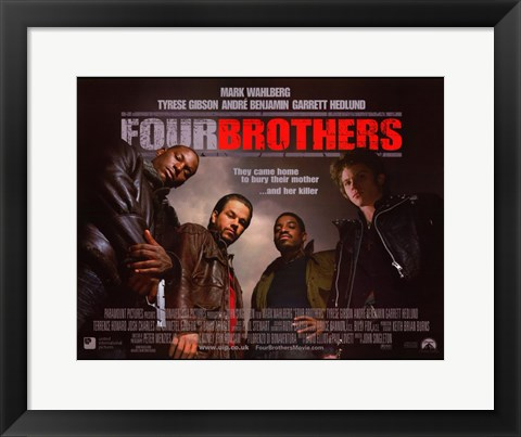 Framed Four Brothers - they came home to bury their mother Print