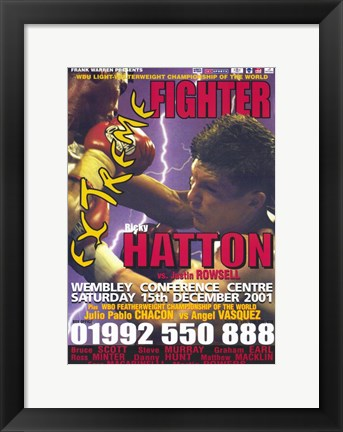Framed Ricky Hatton vs Justin Rowsell Print