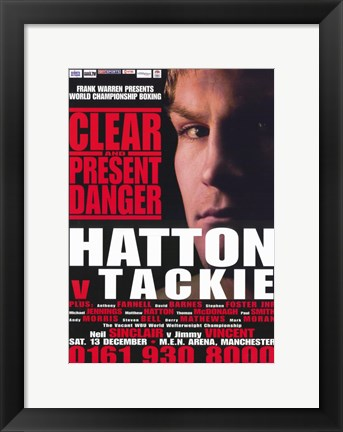 Framed Ricky Hatton vs Ben Tackie Print