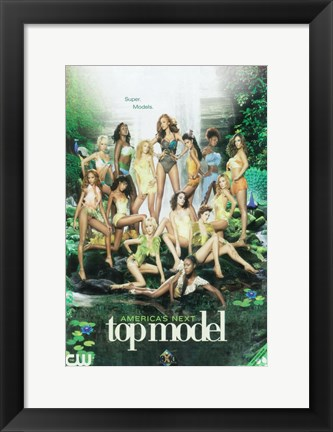 Framed America's Next Top Model - Super Models Print