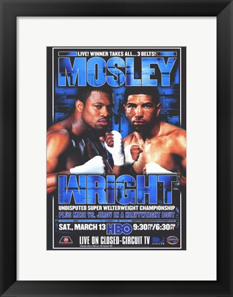 Framed Winky Wright vs Shane Mosley Print