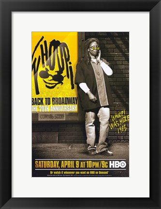 Framed Whoopi: Back to Broadway - The 20th Anniversary Print