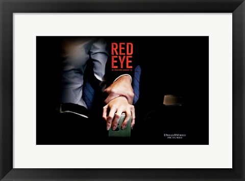 Framed Red Eye - man holding woman's wrist Print