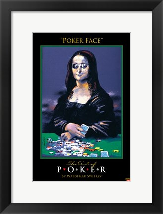 Framed World Series of Poker Poker Face Art Spoof Print