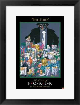 Framed World Series of Poker The Strip Print