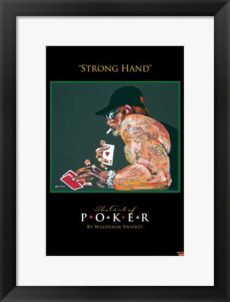 Framed World Series of Poker Strong Hand Print