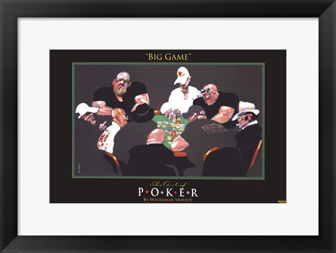 Framed World Series of Poker Big Game Print