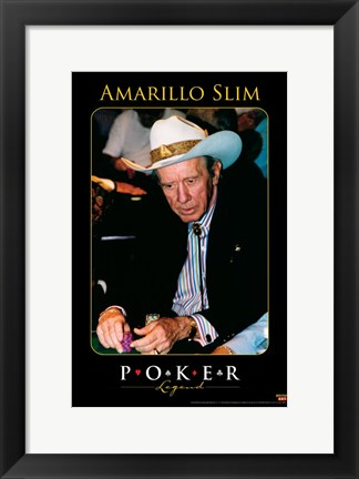 Framed World Series of Poker Amarillo Slim Print