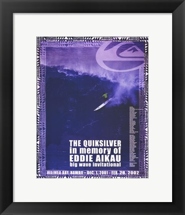 Framed Quiksilver Big Wave Invitational Print