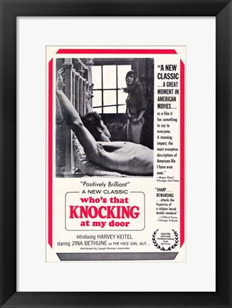 Framed Who's That Knocking at My Door Print