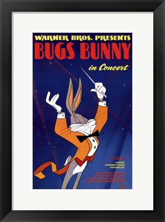 Framed Bugs Bunny in Concert Print