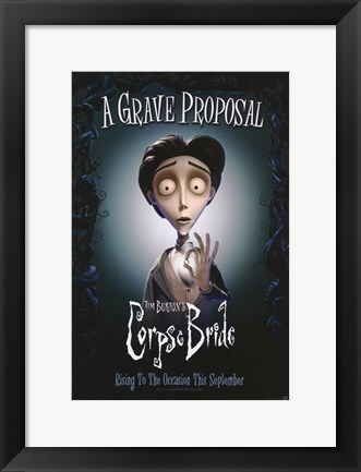 Framed Corpse Bride Grave Proposal Print