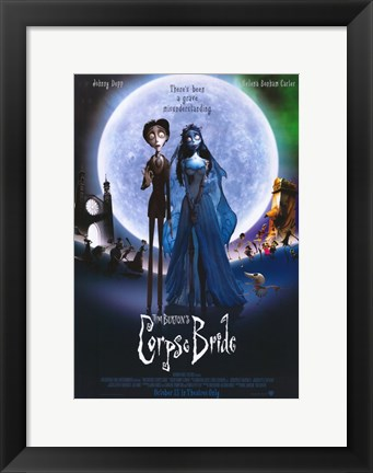 Framed Corpse Bride Wedding Print