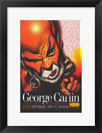 Framed George Carlin: Complaints and Grievances Print