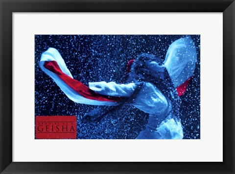 Framed Memoirs of a Geisha - woman with her arms up Print