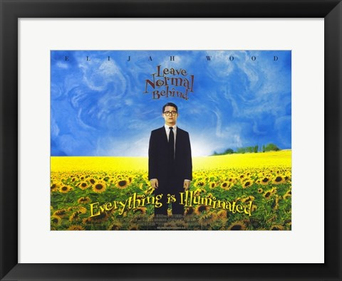 Framed Everything Is Illuminated - Leave normal behind Print