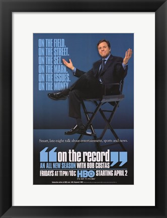 Framed On the Record with Bob Costas Print