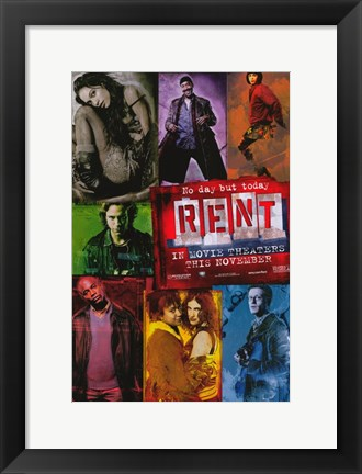 Framed Rent Musical Movie Print