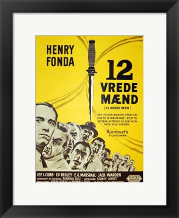 Framed 12 Angry Men - Danish Print