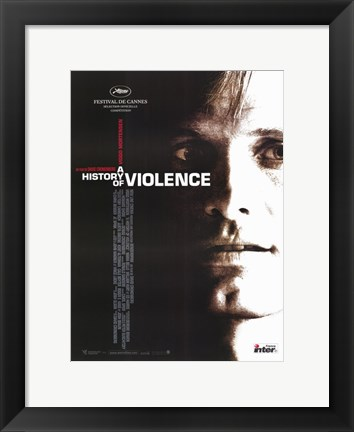 Framed History of Violence Cannes Festival Print