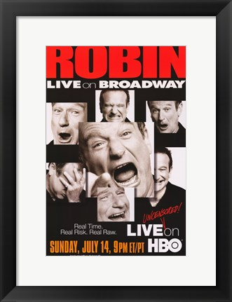 Framed Robin Williams: Live on Broadway Print